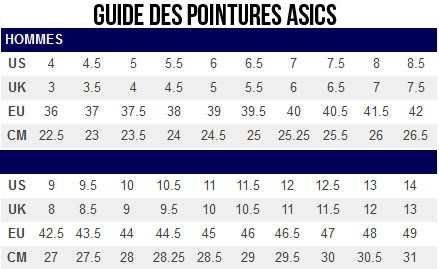 Femme Taille Chaussure Asics Femme Chaussure Femme Asics Taille Asics Chaussure Taille Taille WD9I2EH