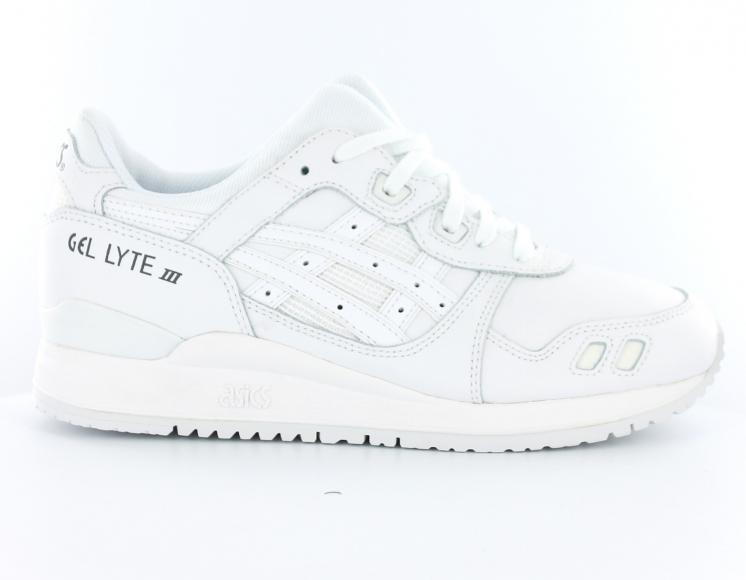 soldes chaussures Asics Gel Lyte 3 Femme Blanche pas cher